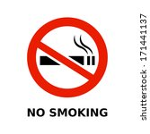 no smoking symbol and text on... | Shutterstock .eps vector #171441137