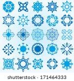 blue snowflake | Shutterstock .eps vector #171464333