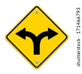 fork in the road sign | Shutterstock . vector #171466793