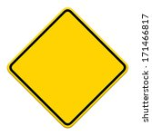 blank yellow road sign on white ... | Shutterstock . vector #171466817