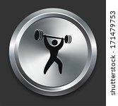 weight lift icon on metallic... | Shutterstock .eps vector #171479753