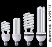 energy saving lamp black | Shutterstock .eps vector #171498443