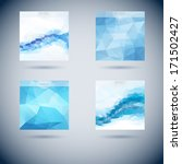 set of abstract vector moder... | Shutterstock .eps vector #171502427