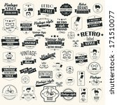 collection of vintage retro... | Shutterstock .eps vector #171510077