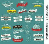 collection of vintage retro... | Shutterstock .eps vector #171510083