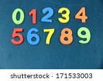 colorful numbers on school desk ... | Shutterstock . vector #171533003