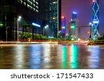 light trails on the modern city ...   Shutterstock . vector #171547433