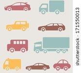 cars and trucks set | Shutterstock .eps vector #171550013