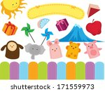 toddler stuff | Shutterstock .eps vector #171559973