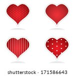 vintage red heart set for... | Shutterstock . vector #171586643