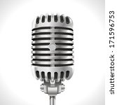 old microphone. realistic... | Shutterstock . vector #171596753