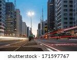 paulista avenue   sao paulo  ... | Shutterstock . vector #171597767