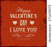 happy valentines day card... | Shutterstock .eps vector #171625073