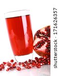 pomegranate juice in a glass... | Shutterstock . vector #171626357