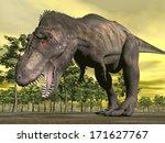 one tyrannosaurus dinosaur... | Shutterstock . vector #171627767