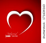 red heart from paper with... | Shutterstock .eps vector #171634163