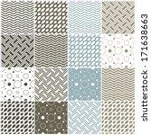 set of 16 seamless patterns... | Shutterstock .eps vector #171638663