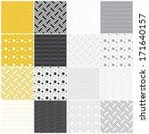 set of 16 seamless patterns...   Shutterstock .eps vector #171640157