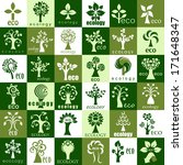 eco tree icons   isolated on... | Shutterstock .eps vector #171648347