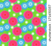 multicolor seamless floral... | Shutterstock .eps vector #171650357