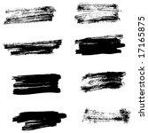 grungy brush strokes set | Shutterstock .eps vector #17165875