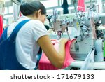 asian seamstress or worker in... | Shutterstock . vector #171679133