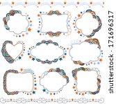 set of hand drawn doodle frames | Shutterstock .eps vector #171696317