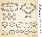 set of vector vintage baroque... | Shutterstock .eps vector #171714653