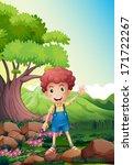 illustration of a happy boy... | Shutterstock . vector #171722267