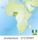map of nigeria with main cities ... | Shutterstock . vector #171729497