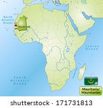 map of mauritania with main... | Shutterstock . vector #171731813