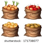 apple,background,bag,brown,cartoon,clip-art,clipart,container,crops,delicious,drawing,edible,farm,farmer,farming