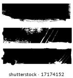 grungy banners ready for your... | Shutterstock .eps vector #17174152