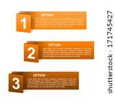 vector orange paper option...   Shutterstock .eps vector #171745427