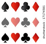 illustration of card symbolic | Shutterstock .eps vector #17174581