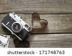 old retro camera with heart...