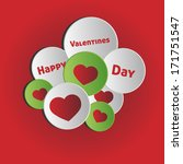 happy valentines day   circle... | Shutterstock .eps vector #171751547