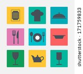 kitchen icons | Shutterstock . vector #171759833