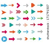 colored arrows on the white... | Shutterstock .eps vector #171791507