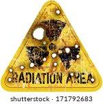 radiation area warning  w.... | Shutterstock .eps vector #171792683