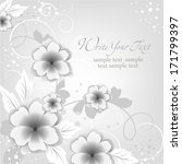 wedding card or invitation with ... | Shutterstock .eps vector #171799397