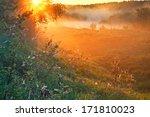 Sunrise In A Fog In The Summer...