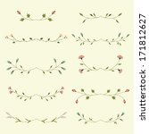 vector set of floral elements  | Shutterstock .eps vector #171812627
