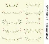 vector set of floral elements  | Shutterstock .eps vector #171812627