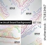 set of circuit board pattern....   Shutterstock .eps vector #171813467