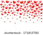 abstract red hearts . vector... | Shutterstock .eps vector #171815783