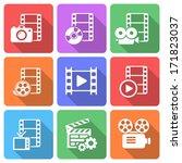 trendy flat film icon pack.... | Shutterstock .eps vector #171823037