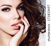 beauty portrait of beautiful...   Shutterstock . vector #171823457
