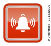 ringing bell  glossy rounded... | Shutterstock .eps vector #171830303