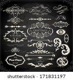 vector set of calligraphic... | Shutterstock .eps vector #171831197
